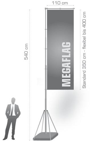 Größe Mensch Megaflag Vergleich