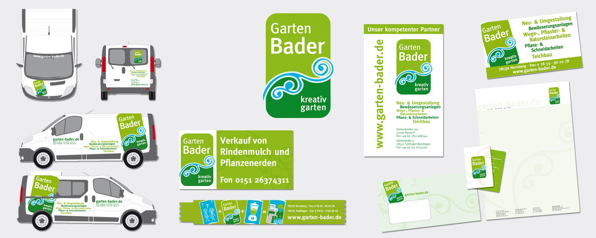 Grafik Design Garten Bader