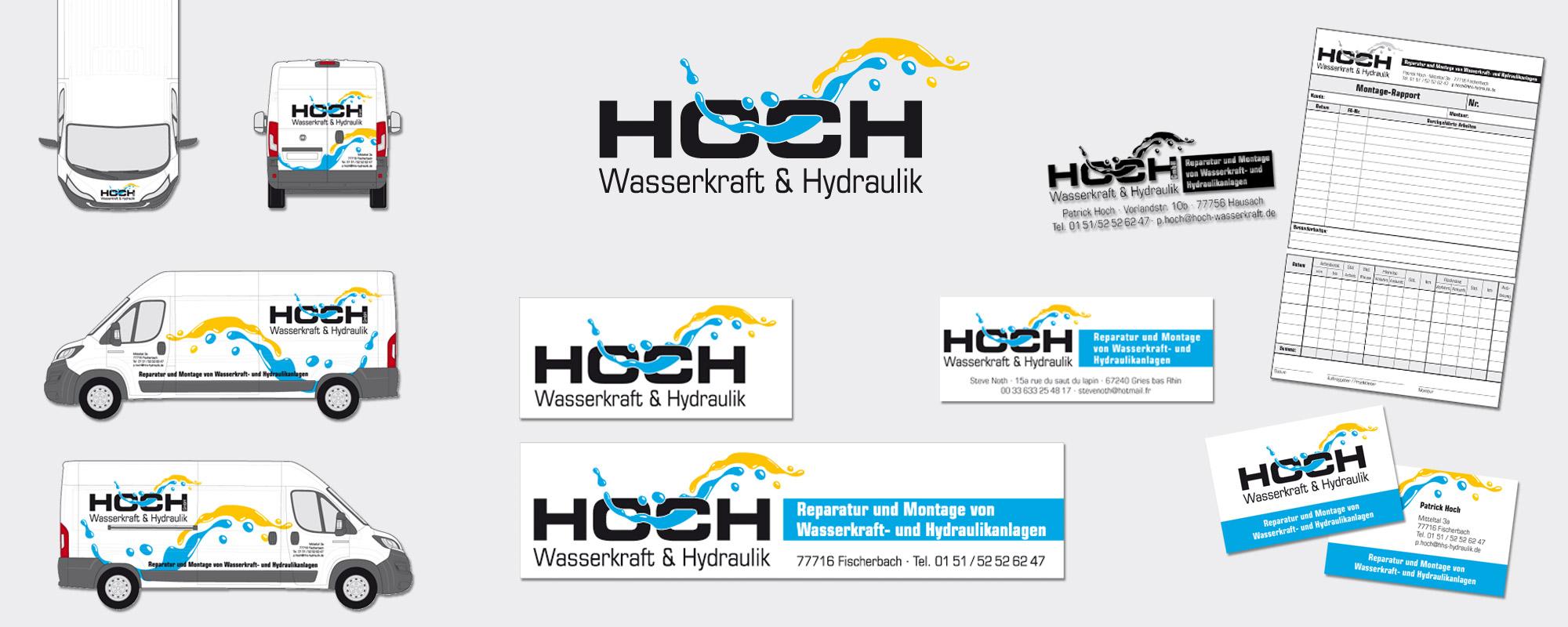 Grafik Design Hoch Wasserkraft